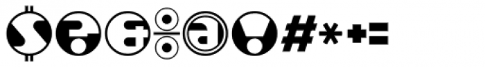 Roundel Font OTHER CHARS