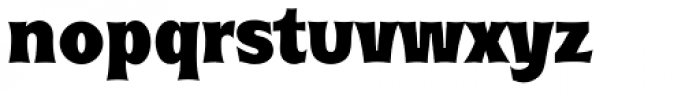 Roundest Serial Heavy Font LOWERCASE