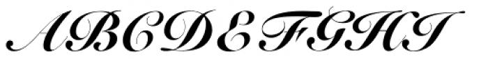 Roundhand Black BT Font UPPERCASE