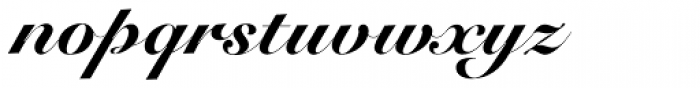 Roundhand Black BT Font LOWERCASE