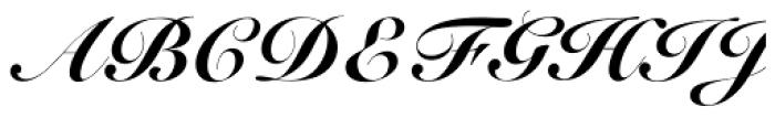 Roundhand Black Font UPPERCASE