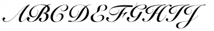 Roundhand Bold BT Font UPPERCASE
