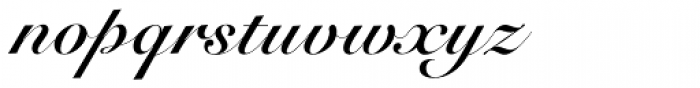 Roundhand Bold BT Font LOWERCASE