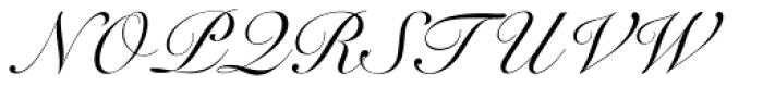 Roundhand Font UPPERCASE