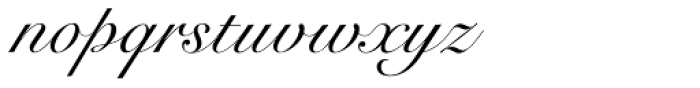 Roundhand Font LOWERCASE