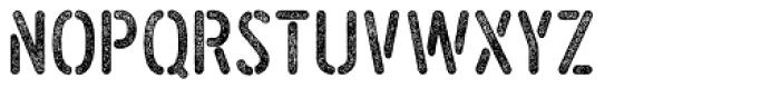Roves Stencil Press Bold Font LOWERCASE