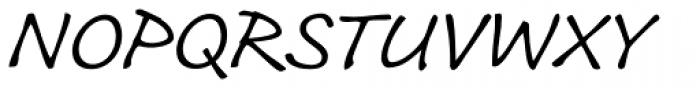Roy Hand RP Light Font UPPERCASE