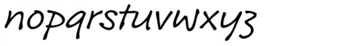 Roy Hand RP Light Font LOWERCASE