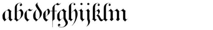 Royal Bavarian Plain Font LOWERCASE