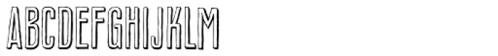 Royal Oak Sans Shadow Font UPPERCASE