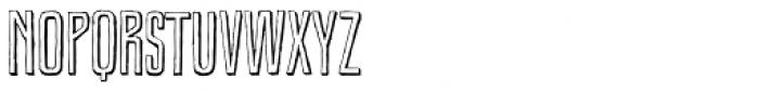Royal Oak Sans Shadow Font LOWERCASE