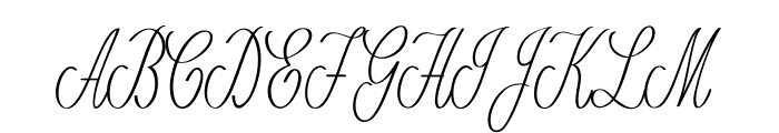 Romantico-ExtracondensedRegular Font UPPERCASE