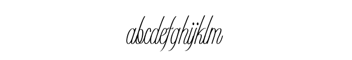 Romantico-ExtracondensedRegular Font LOWERCASE