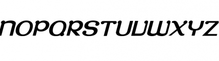 Roppongi Oblique Font UPPERCASE