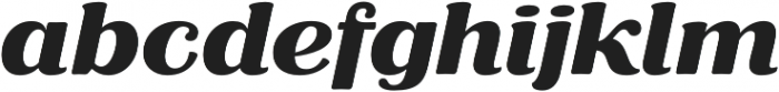 RP Aloe Text ExtraBold otf (700) Font LOWERCASE