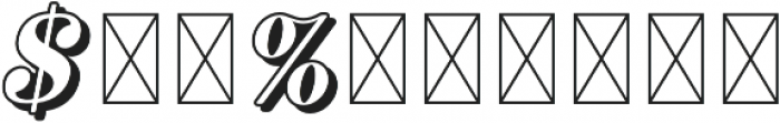 RS Numerals Shadow otf (400) Font OTHER CHARS