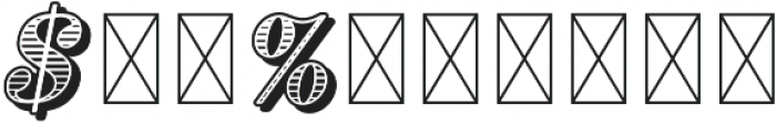 RS Numerals Tooled otf (400) Font OTHER CHARS