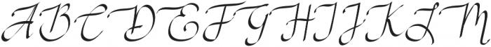 RSVP Calligraphy otf (400) Font UPPERCASE