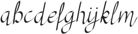 RSVP Calligraphy otf (400) Font LOWERCASE