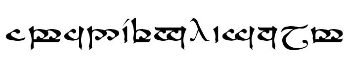 RSMoroma Medium Font LOWERCASE