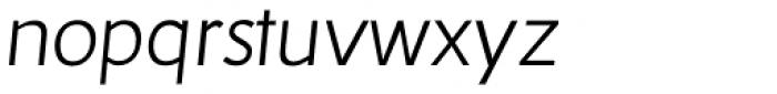 RTF Dokument Light Italic Font LOWERCASE