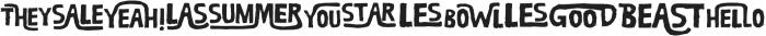 RUBA WORDS otf (400) Font UPPERCASE