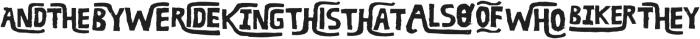 RUBA WORDS otf (400) Font LOWERCASE