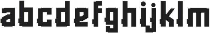 Rubrick otf (700) Font LOWERCASE