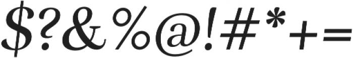Rufina Italic otf (400) Font OTHER CHARS