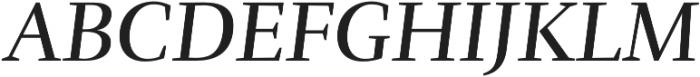 Rufina Italic otf (400) Font UPPERCASE