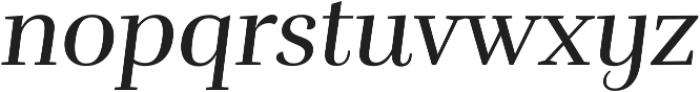 Rufina Italic otf (400) Font LOWERCASE