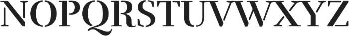 Rufina Stencil Alt 01 Bold otf (700) Font UPPERCASE