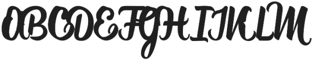 Rufus1 ttf (400) Font UPPERCASE
