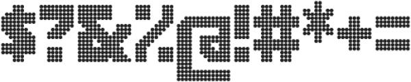 Rukyltronic Circle otf (400) Font OTHER CHARS