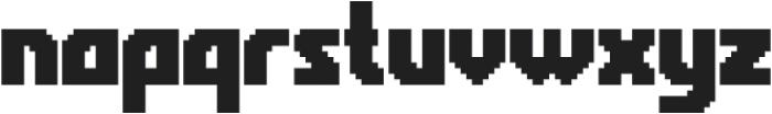 Rukyltronic Regular otf (400) Font LOWERCASE