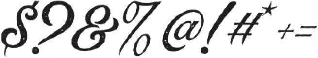 Rumble Brave Rough Script  otf (400) Font OTHER CHARS