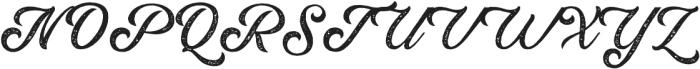 Rumble Brave Rough Script  otf (400) Font UPPERCASE