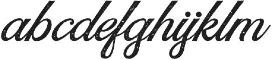 Rumble Brave Rough Script  otf (400) Font LOWERCASE