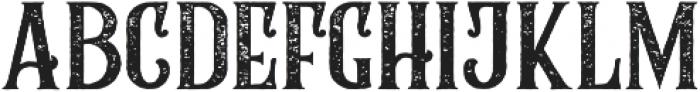 Rumble Brave Rough otf (400) Font LOWERCASE