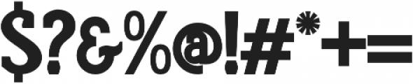 Rumoura otf (700) Font OTHER CHARS