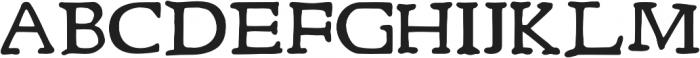Rusch otf (700) Font UPPERCASE