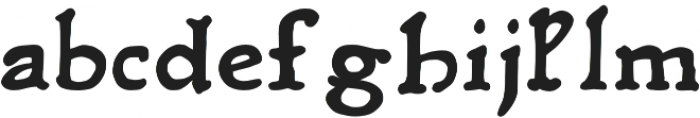 Rusch otf (700) Font LOWERCASE