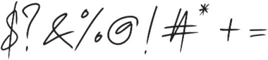 Rushink Signature otf (400) Font OTHER CHARS