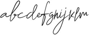 Rushink Signature otf (400) Font LOWERCASE