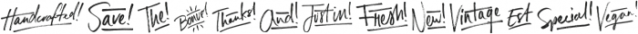 Russell Catchwords ttf (400) Font LOWERCASE