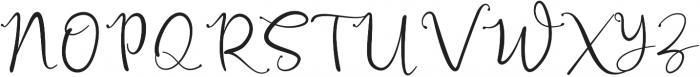 Russhell Regular otf (400) Font UPPERCASE