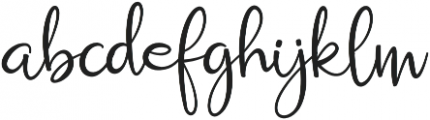 Russhell Regular otf (400) Font LOWERCASE