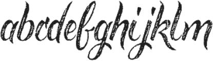 Rusted Brushpen otf (400) Font LOWERCASE