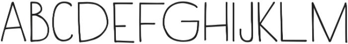 Rustica otf (600) Font LOWERCASE