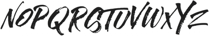 Rusty Cola Pen Allcaps otf (400) Font LOWERCASE